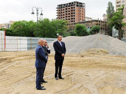 Президент ознакомился с проводимыми в парке Деде Горгуда работами